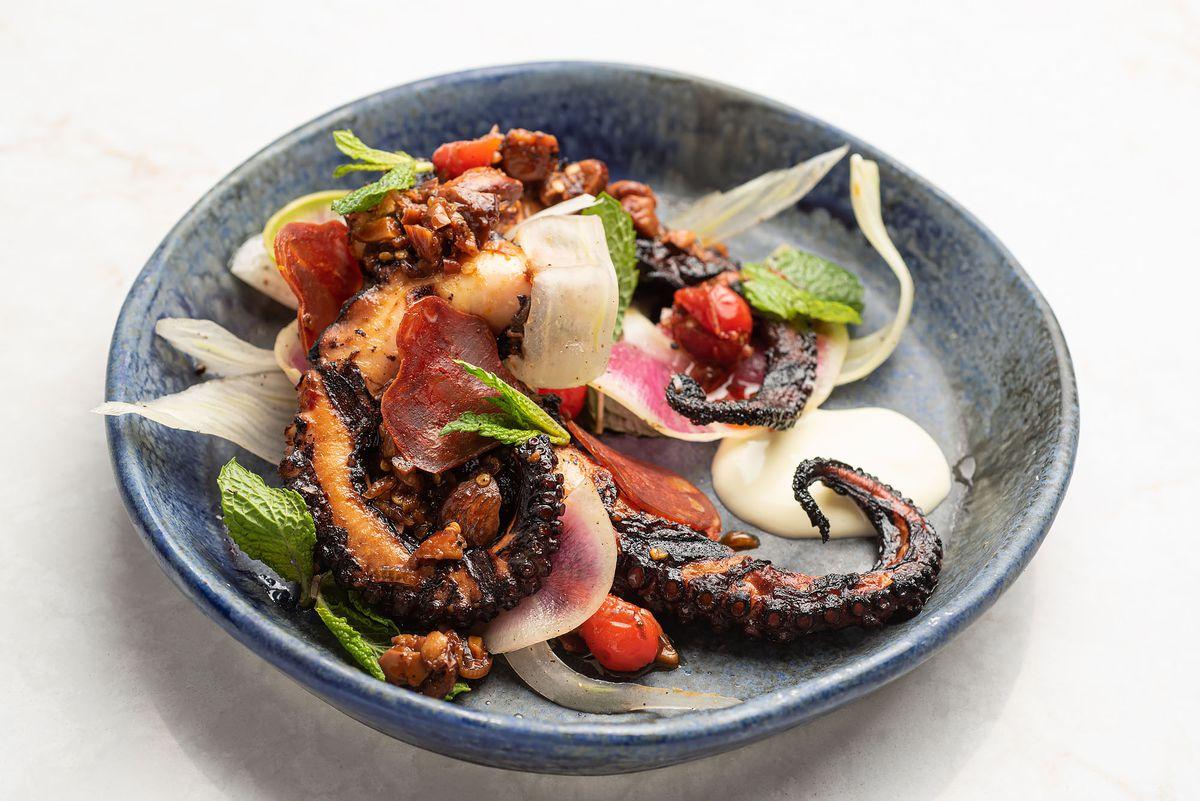 Octopus and chorizo at Adamae