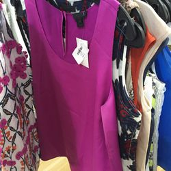 J. Crew Collection top in fuschia, $60