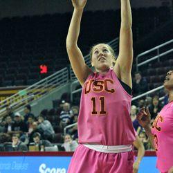 Cassie Harberts gets an easy bucket.