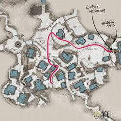 Take this path to Luiza's Heirloom map location