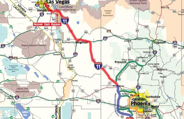 Highway Map Of Arizona.Have You Heard Of Interstate 11 This Future Highway May Make Your