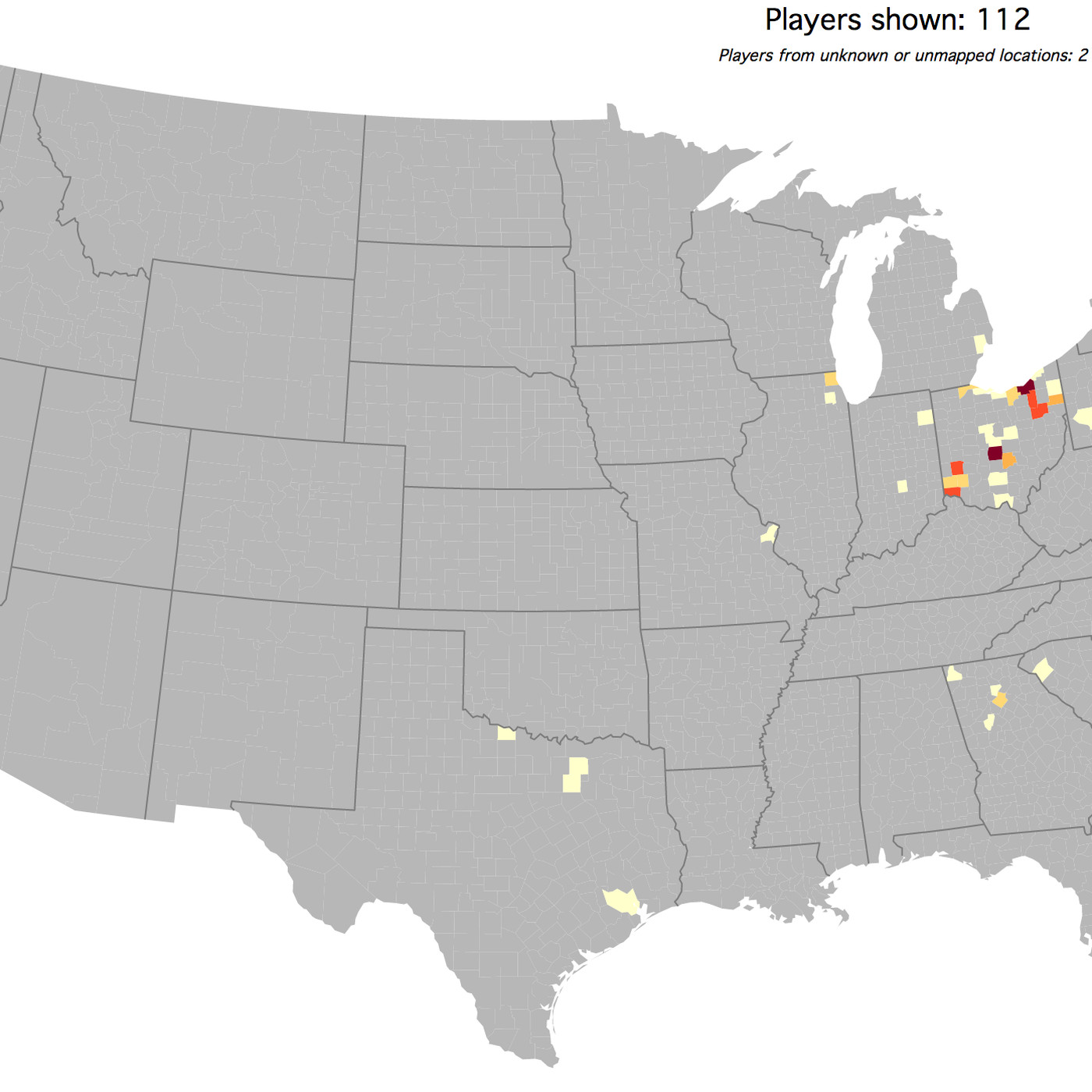 Here\'s a map of where Ohio State football players are from ...