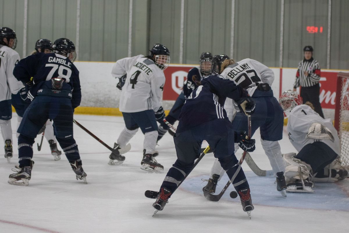 Team Knox and Team Poulin do battle in game three of the Unifor Women's Showcase.