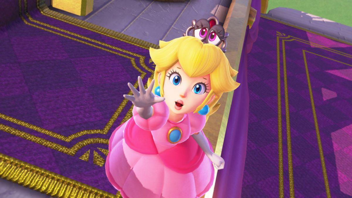 Super Mario Odyssey - Princess Peach reaching up