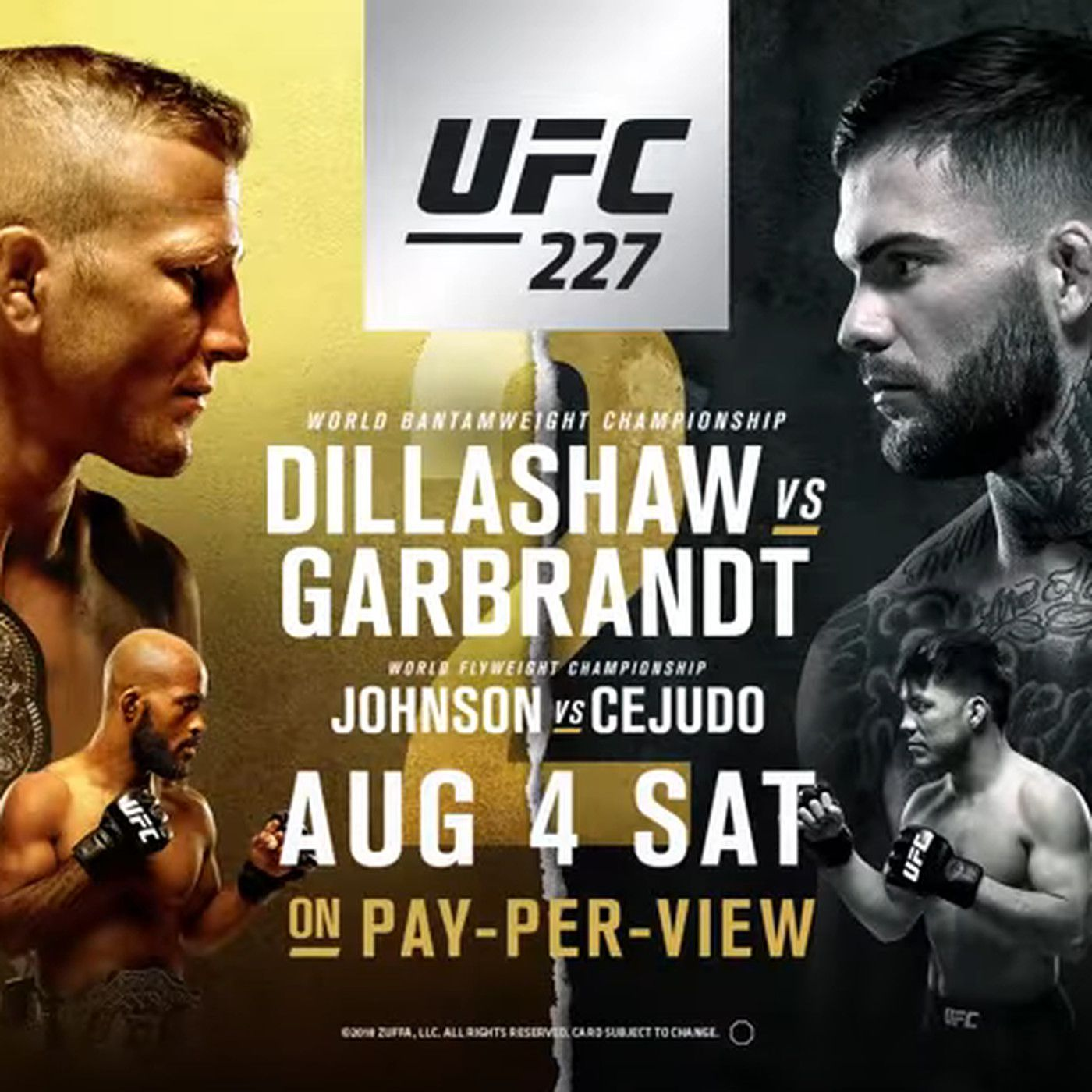 UFC 227 start time, TV schedule, who is fighting tonight at 'Dillashaw vs  Garbrandt 2' - MMAmania.com
