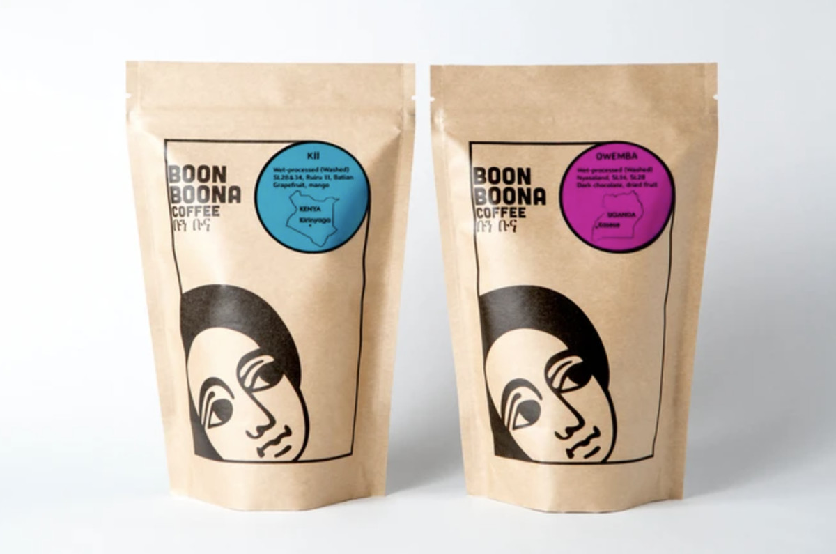 Two bags of Boona Boona Coffee