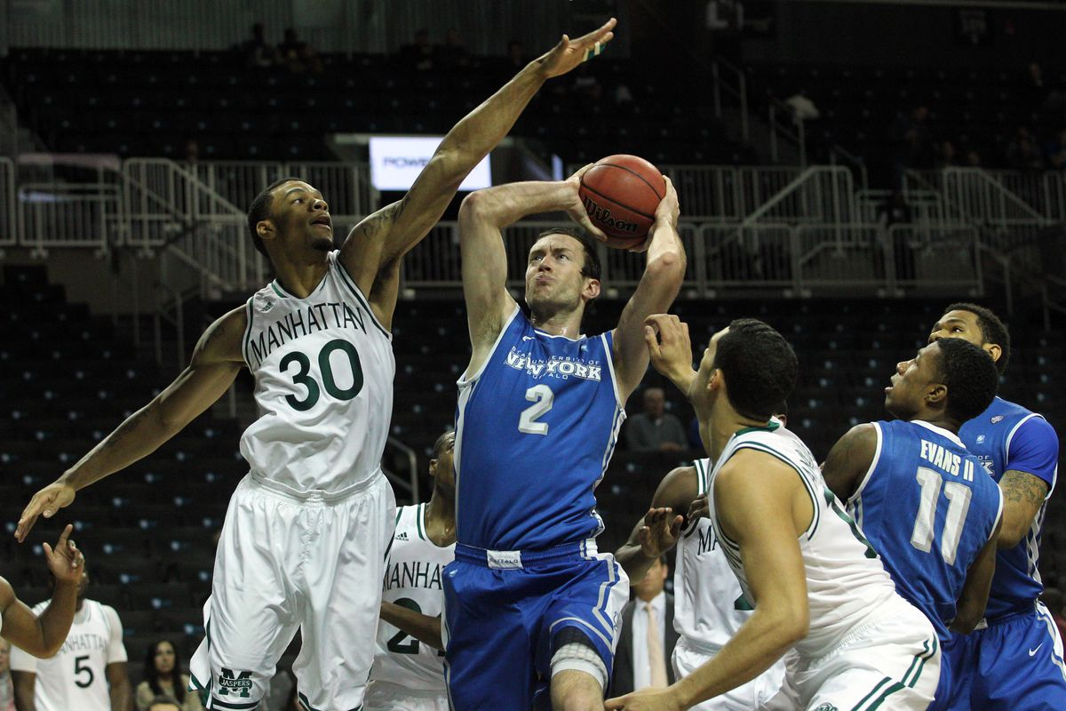 Will Regan's 15 points complimented 31 from Javon McCrea in UB's first-ever win at the MAC Center in Kent.