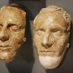 The death masks of Joseph and Hyrum Smith are displayed at the Church History Museum in Salt Lake City Wednesday, Sept. 24, 2014. Thirty years after its original opening, the Church History Museum will close on October 6, 2014, for one year to complete major renovations. The museum will reopen in fall 2015 with a newly designed floor plan and exhibitions.