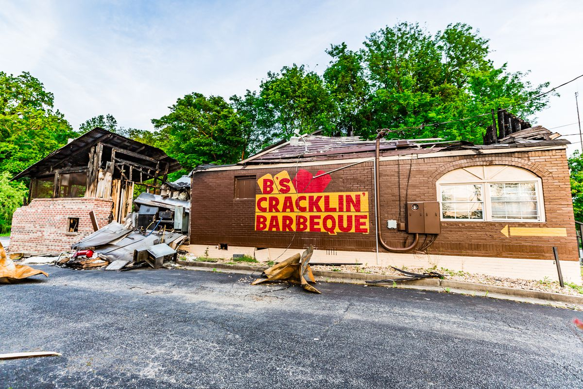 Fire which began in the smokehouse destroyed B's Cracklin' Barbecue in northwest Atlanta on March 6, 2019