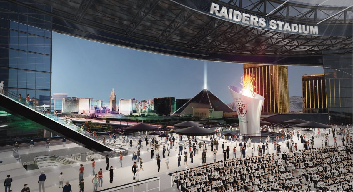 Las Vegas Raiders stadium rendering