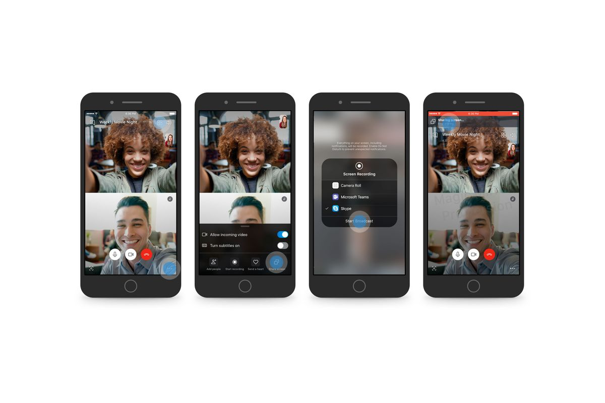 Skype now lets you share your Android or iOS phone screen on