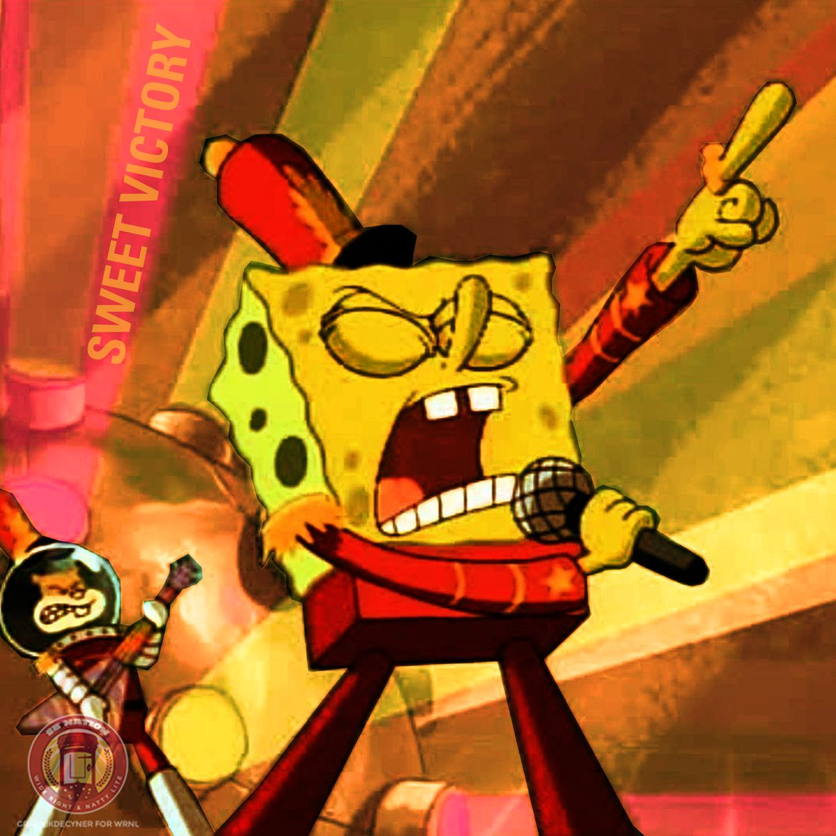 Sweet Victory album cover art, featuring Spongebob SquarePants in the Sweet Victory episode