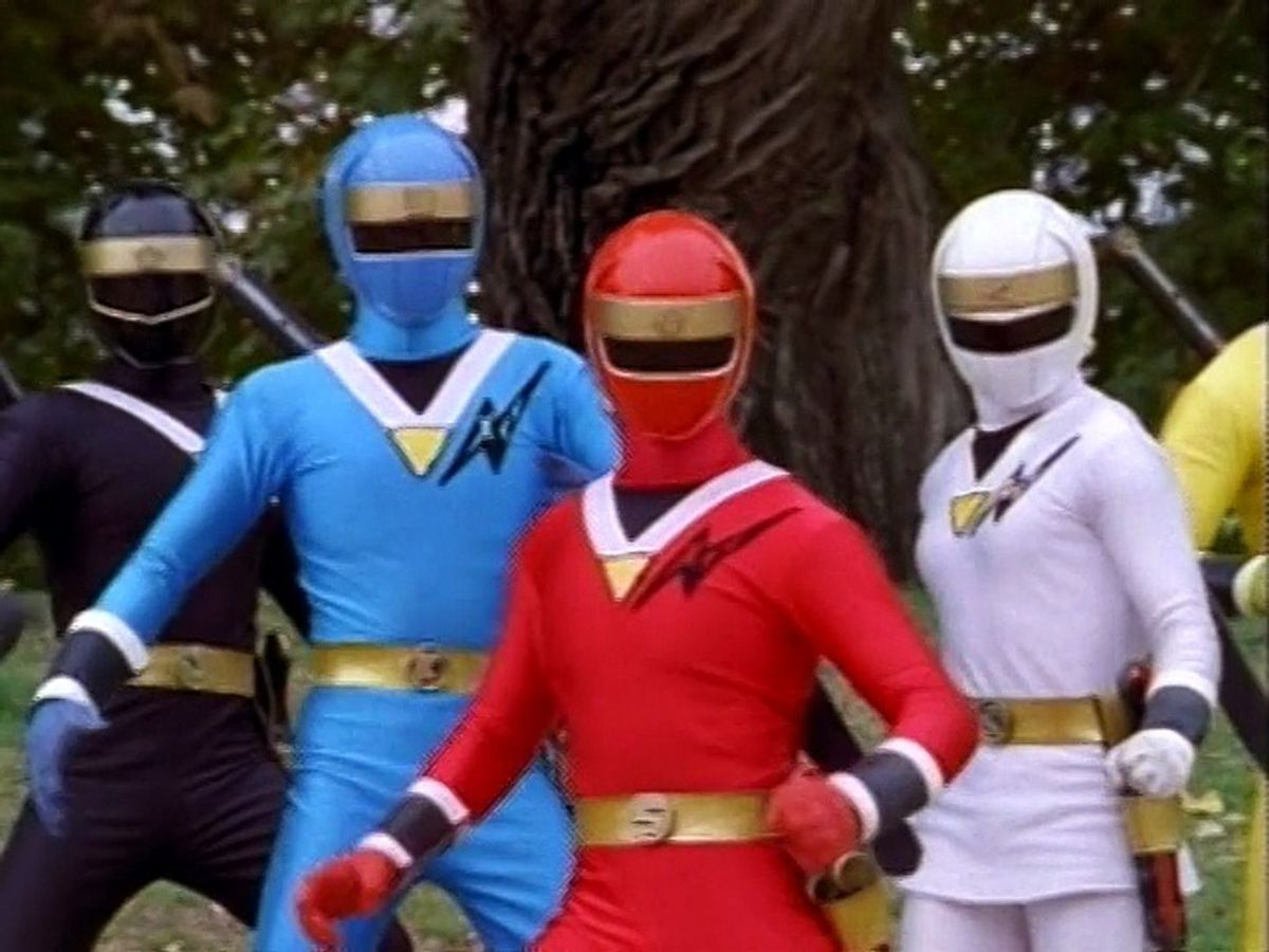 power rangers zeo black blue red and white rangers