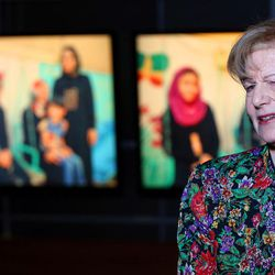 Baroness Emma Nicholson of Winterbourne speaks during an interview Thursday, April 21, 2016, in Salt Lake City. She spoke about refugees in Iraq and around the world.