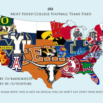 Reddit\'s Most Hated College Football Teams By State - Cowboys Ride ...