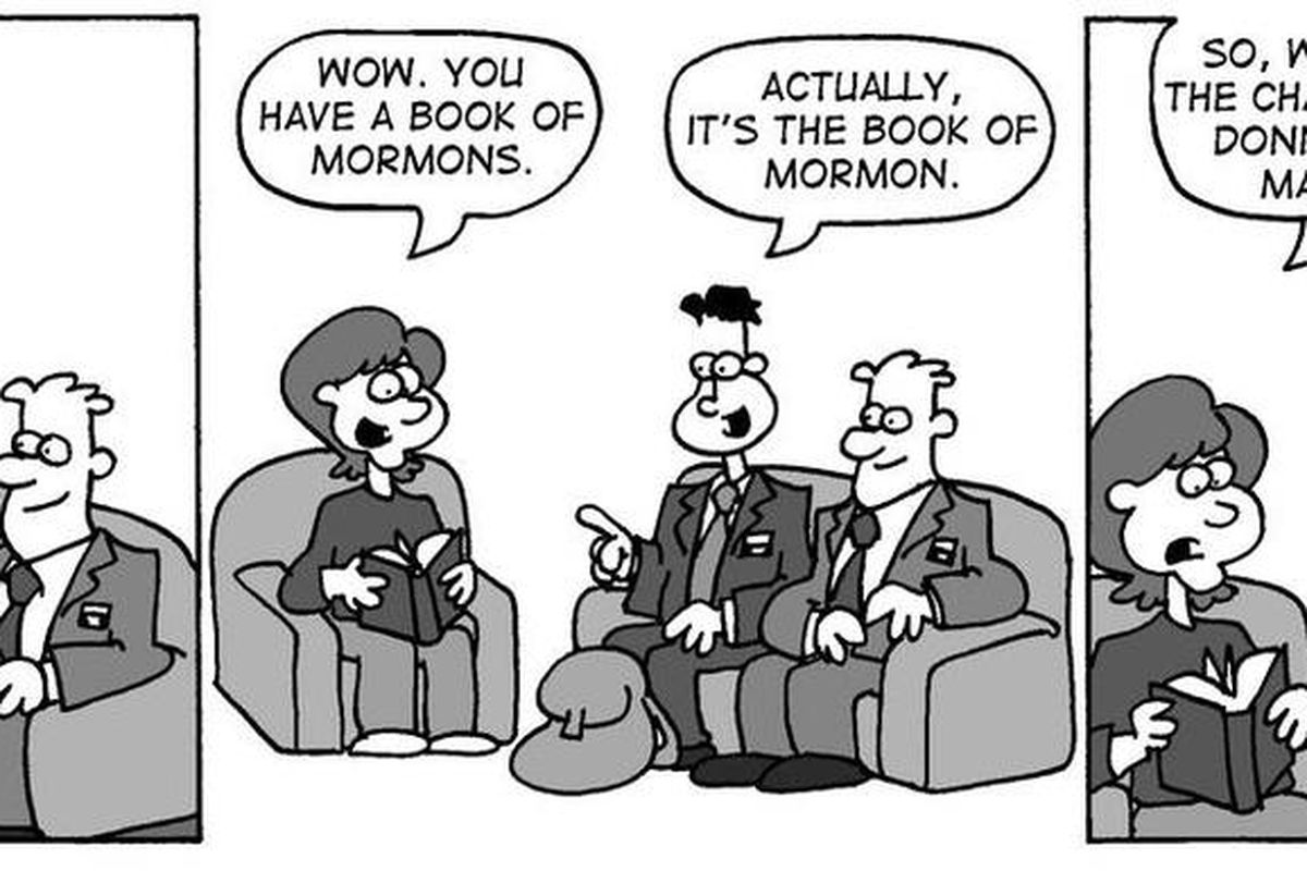 Elder Van Dyke and his companion have a hard time sharing the title of a particular set of scriptures.