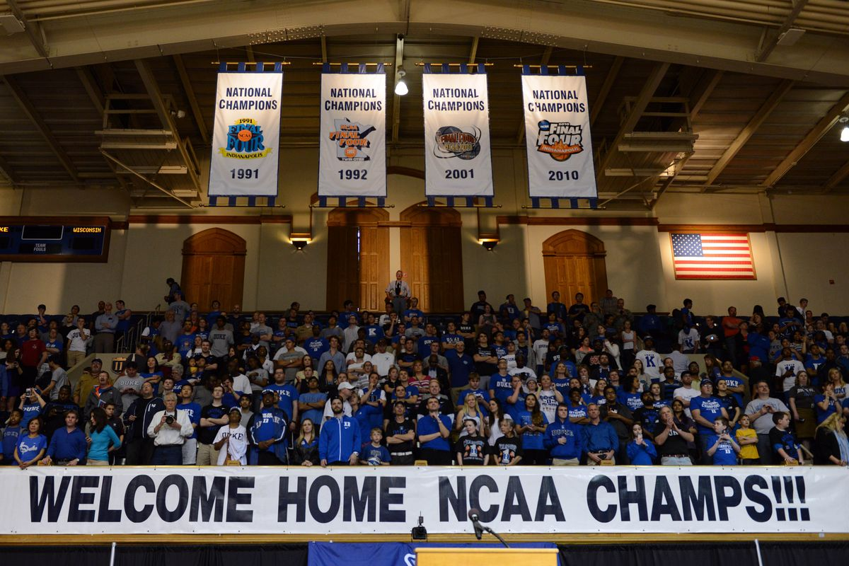 There's one more banner up there now.