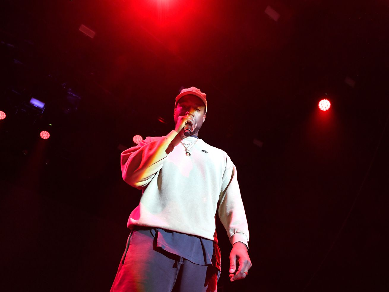 Kanye West performs in Los Angeles in February 2017.