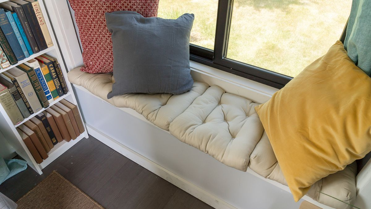 Bay window with pillows