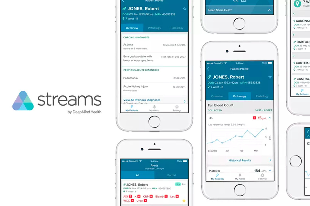 DeepMind Health's most prominent product is its Streams app, which helps manage patients in hospitals.