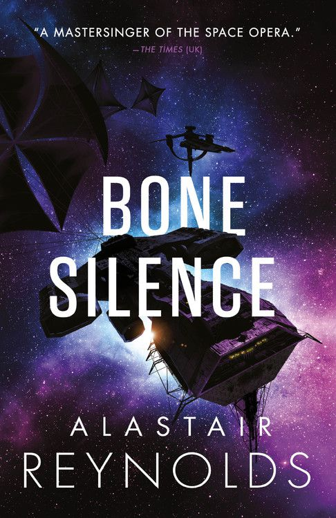 bone silence by alastair reynolds cover has a spaceship