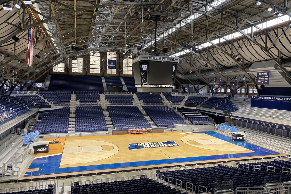 Hinkle Fieldhouse converted to an NCAA Tournament site
