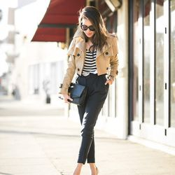 """Wendy of <a href=""""http://www.wendyslookbook.com""""target=""""_blank"""">Wendy's Lookbook</a> is wearing a Burberry trench coat and <a href=""""http://www.theoutnet.com/en-US/product/Burberry-Prorsum/Linen-and-silk-blend-tapered-pants/442966?cm_mmc=LinkshareUS-_-QFGL"""