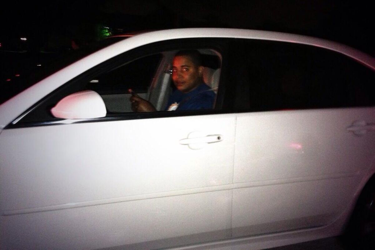 Is that Jonathan Martin in Josh Samuda's car?  We shall never know...