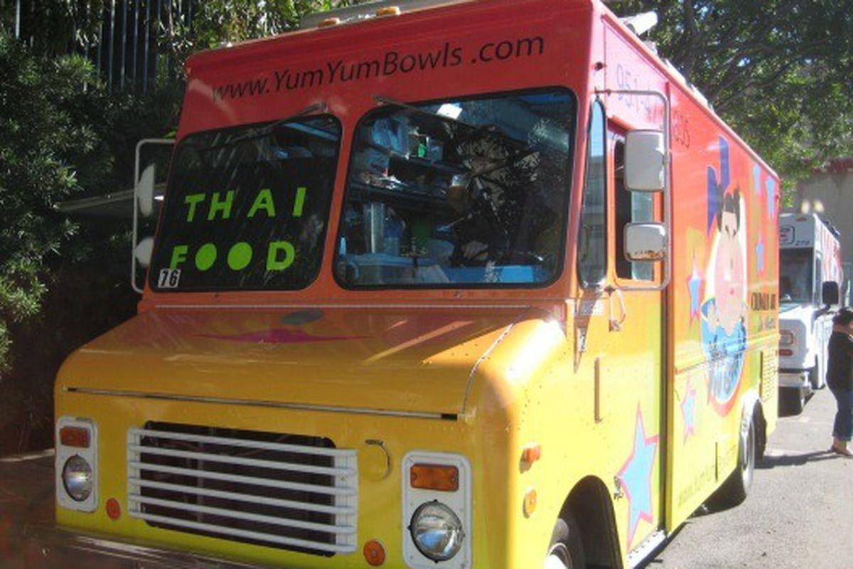 Yum Yum Bowls at the Haiti benefit in West LA.