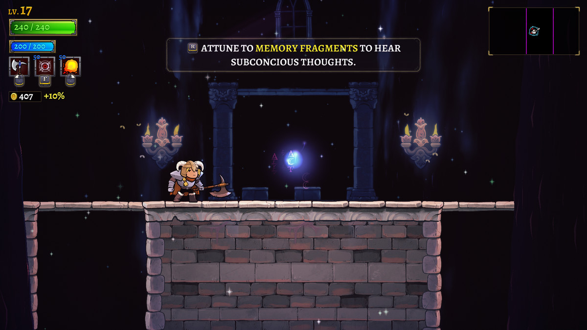 A Memory Fragment in Rogue Legacy 2