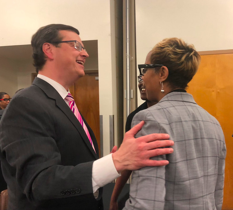 Left: John Barker, new chief of staff for Shelby County Schools