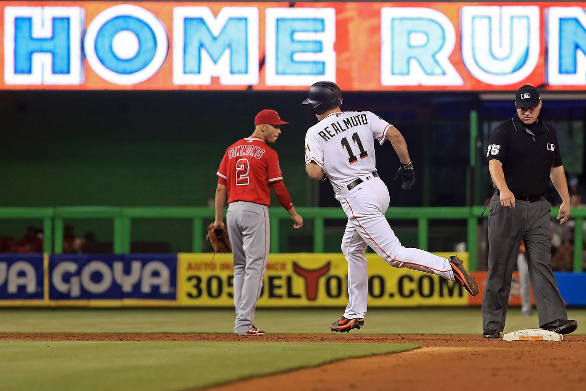 Stanton's long homer helps Marlins beat Angels 8-5