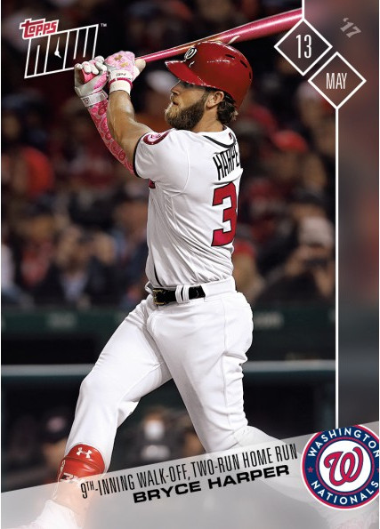Nationals Bryce Harper Gets Topps Now Card For Fifth Career