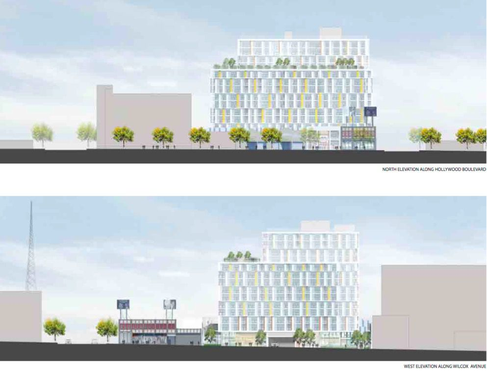 Sketches of the project seen from street level