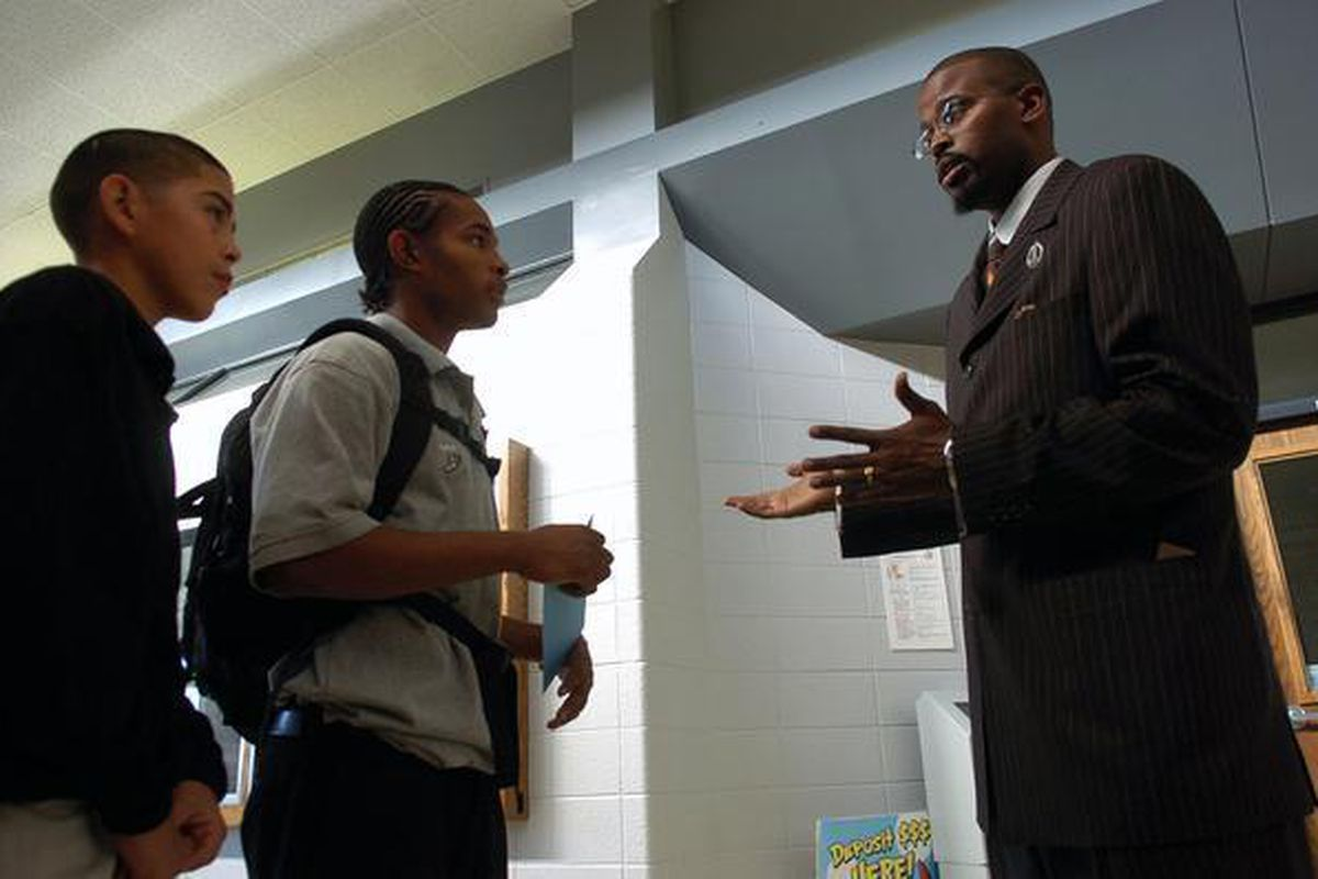 Antwan Wilson when he was principal of Denver's Montbello High School.