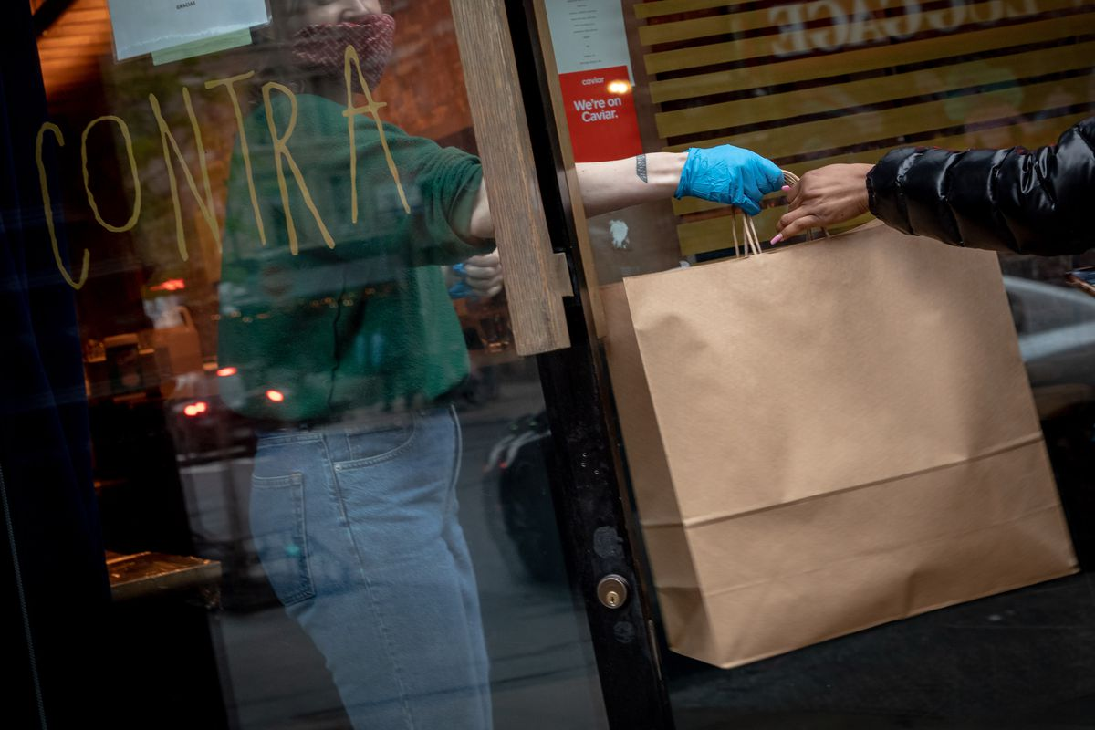 High End New York City Restaurants Offer Take Out And Delivery Options As Coronavirus Pandemic Devastates Restaurant Industry