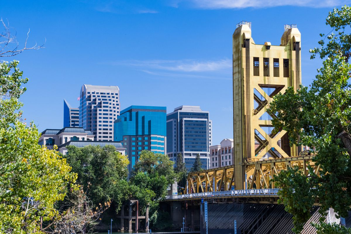 Sacramento with the tower bridge in the foreground.