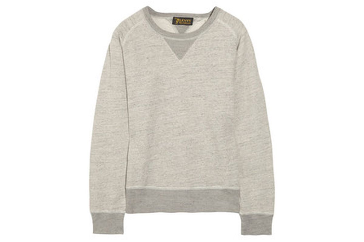 """<strong>Levi's Made and Crafted</strong> Flecked Cotton-Jersey Sweatshirt, <a href=""""http://www.net-a-porter.com/product/336668?cm_sp=we_recommend-_-336668-_-slot1"""">$80</a> (from $160)"""