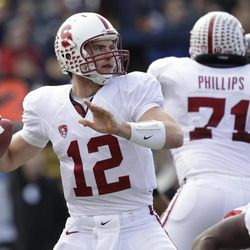 FOR USE AS DESIRED WITH NFL DRAFT STORIES - FILE- In this Nov. 20, 2010, file photo, Stanford  quarterback Andrew Luck throws a pass during an NCAA college football game against California in Berkeley, Calif. Luck is a top prospect in the upcoming NFL football draft.