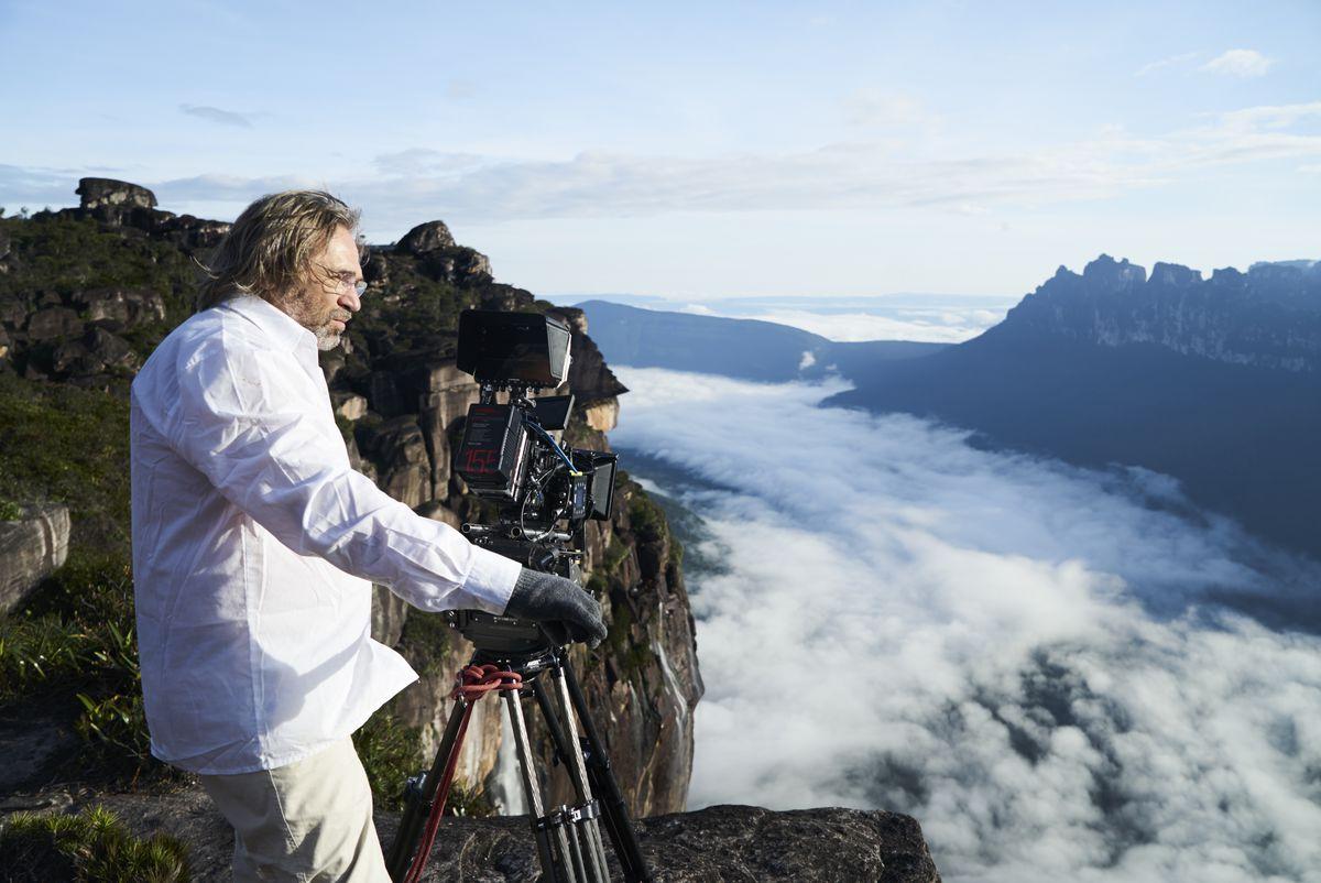 Kossakovsky shooting at Angel Falls in Venezuela.