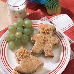 Turkey and Cheese Cookie Cutter Sandwiches