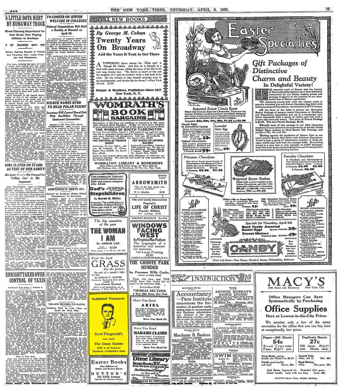The full page on April 9, 1925.