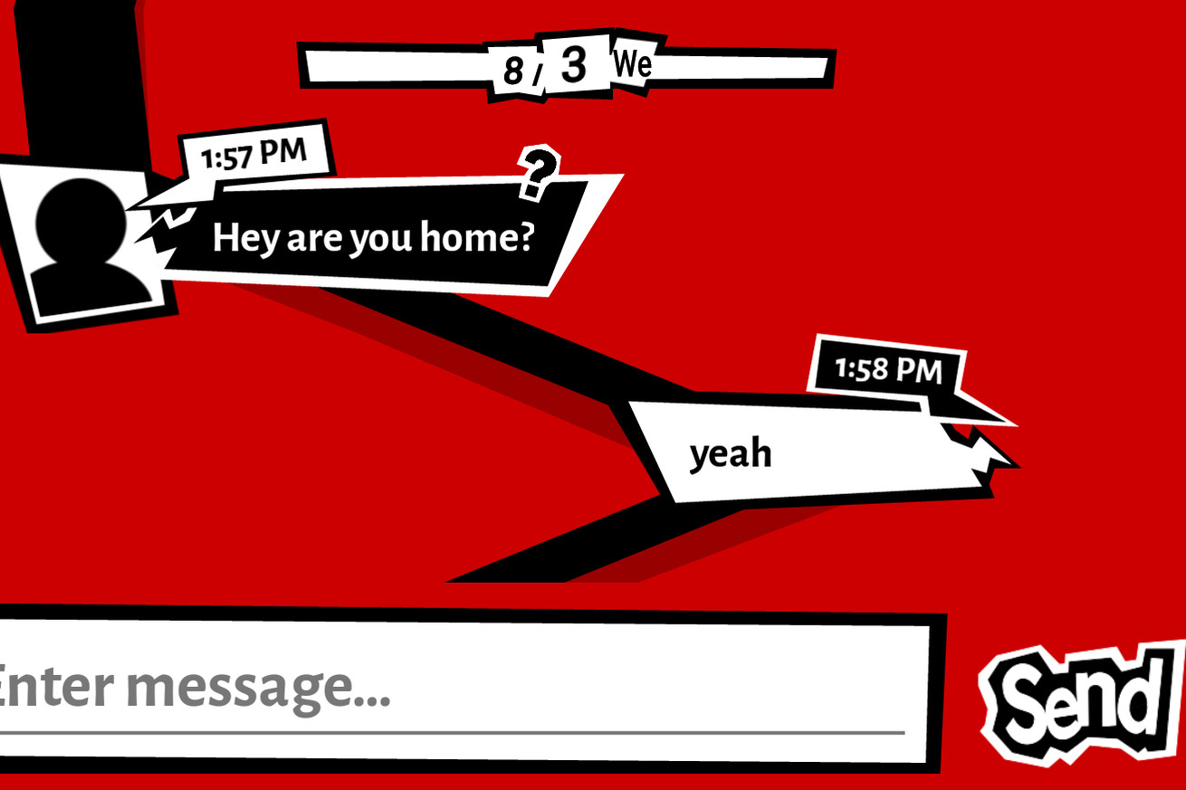 pretend to be a phantom thief with this persona 5 messaging app