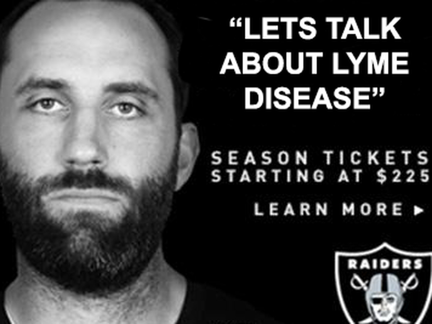 size 40 839f4 50f5b Matt Schaub looks very excited in the Raiders' newest ad ...