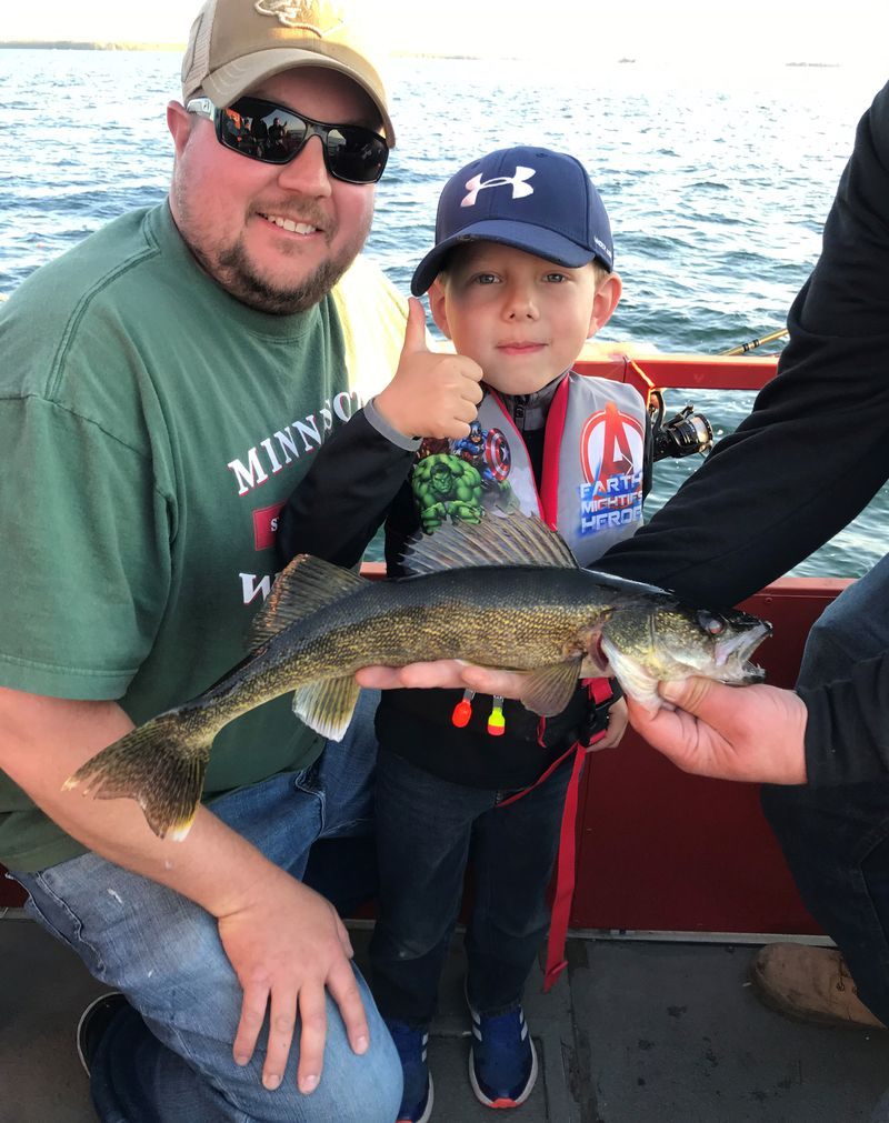 Opening weekend action on Mille Lacs. Provided by McQuoids