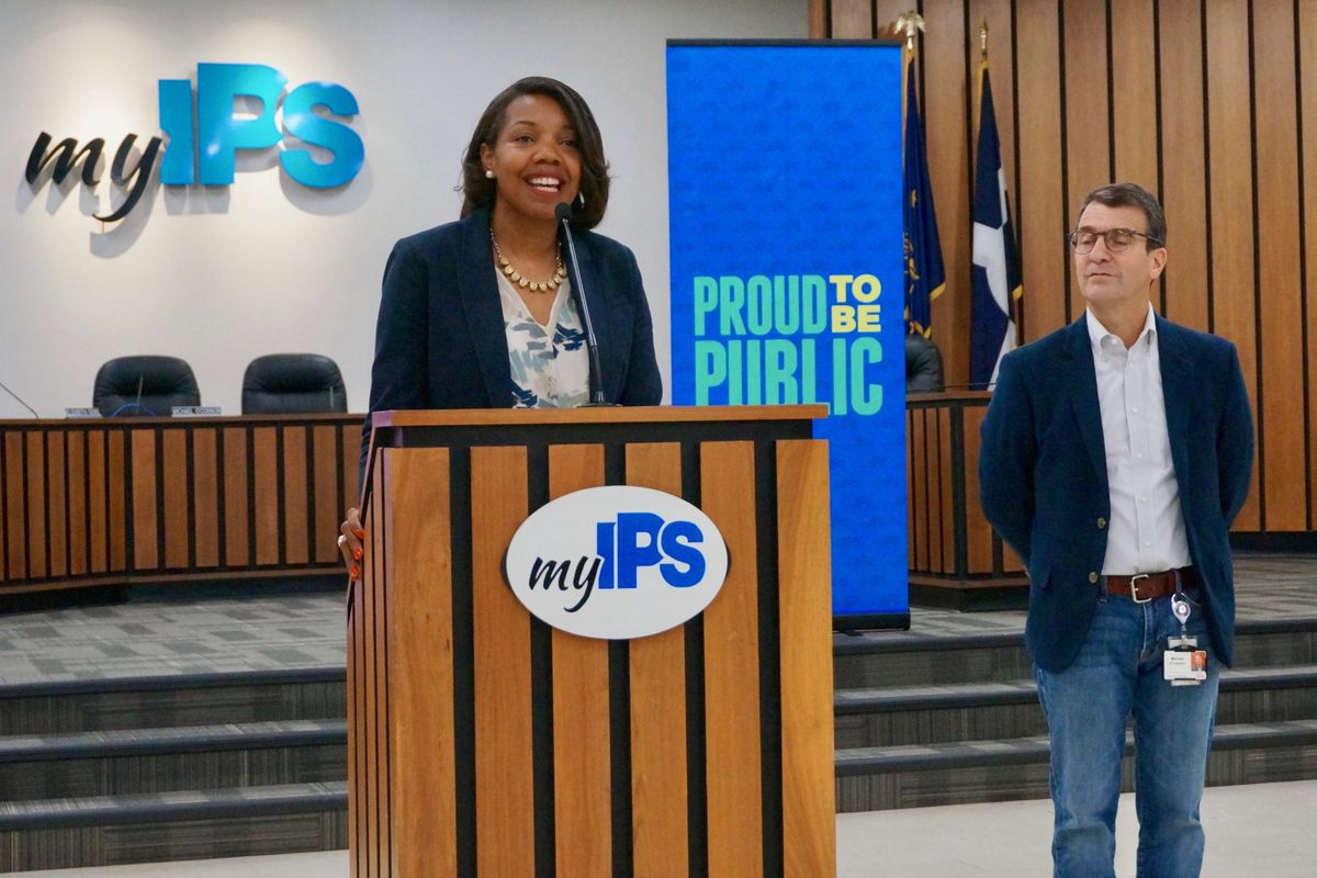 Superintendent Aleesia Johnson when her selection was announced.