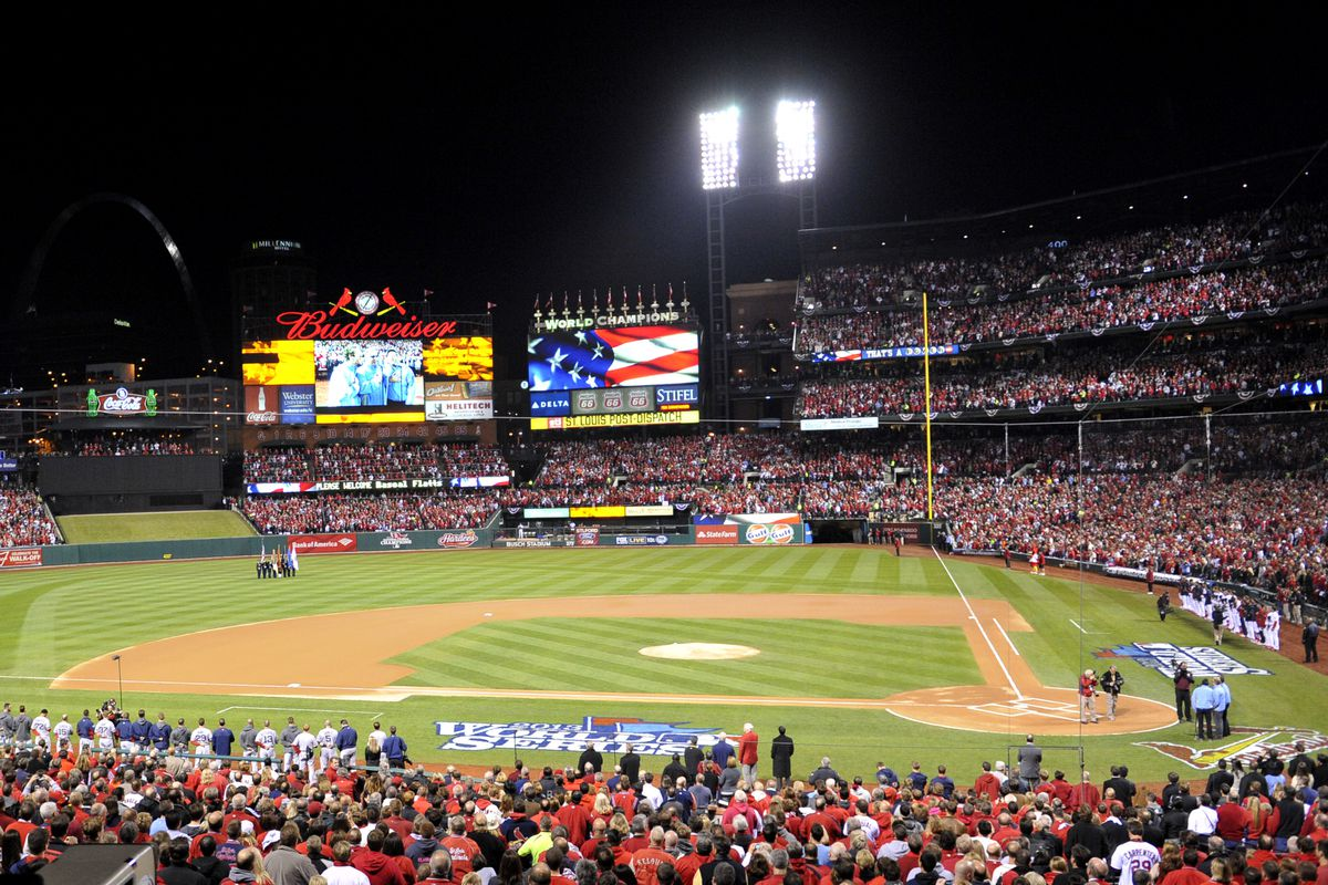 Busch Stadium: just one of many unique ballparks that I misrepresented.