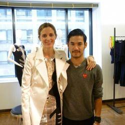 Barneys fashion director Amanda Brooks and designer of the hour Joseph Altuzarra.