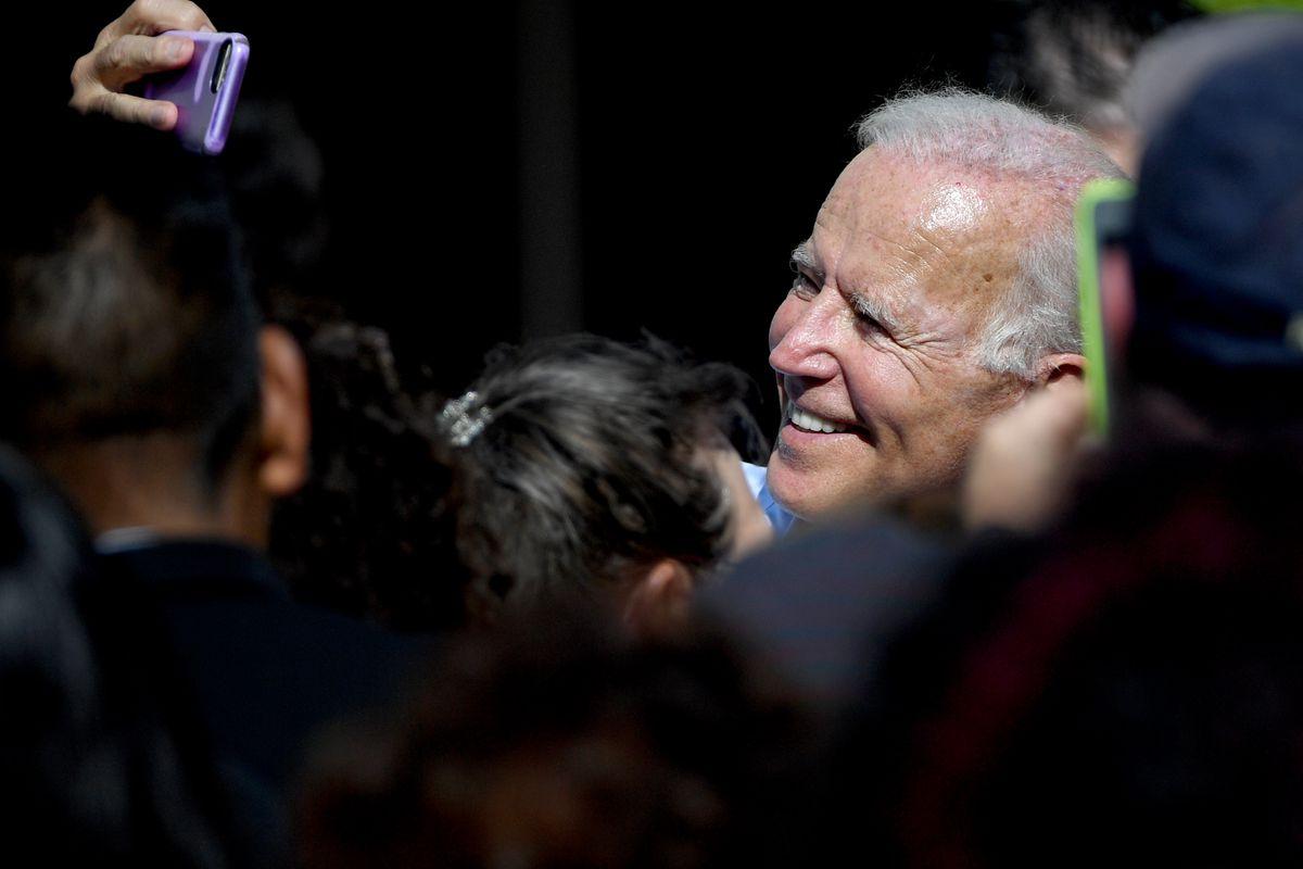 Democratic Presidential Candidate Joe Biden Campaigns In Las Vegas