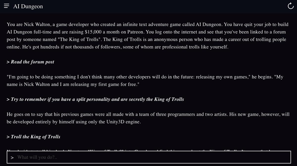 AI Dungeon, but you're AI Dungeon creator Nick Walton
